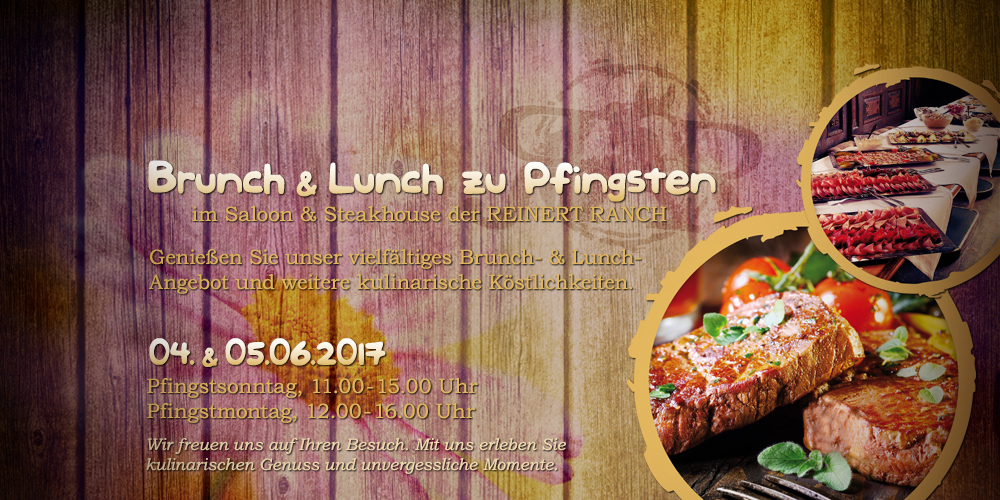 Brunch & Lunch zu Pfingsten | 04. & 05.06.