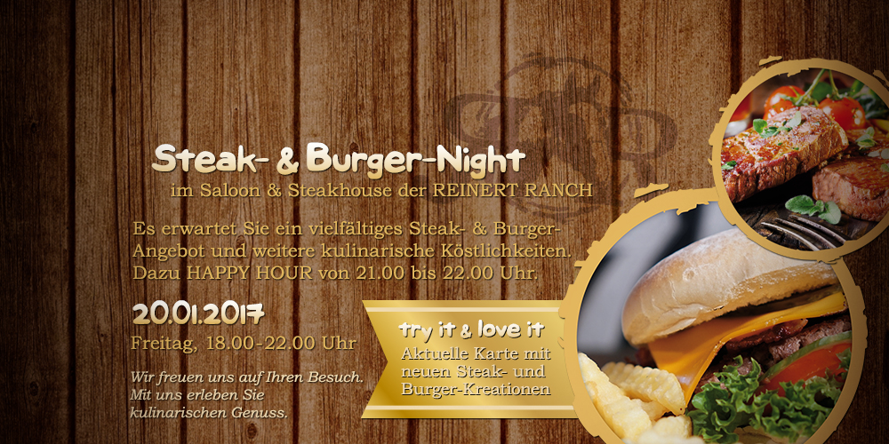 Steak- & Burger-Night | 20.01.